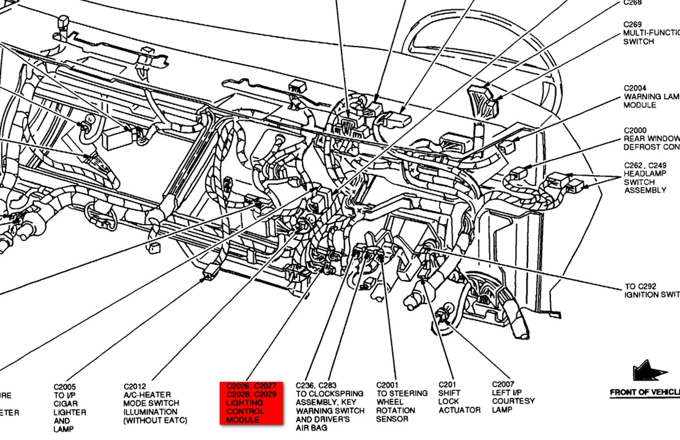 Fuse Box Diagram For 1998 Lincoln Continental Electrical Wiring 98 Town Car Questions Tail Lights Brake Light 2001