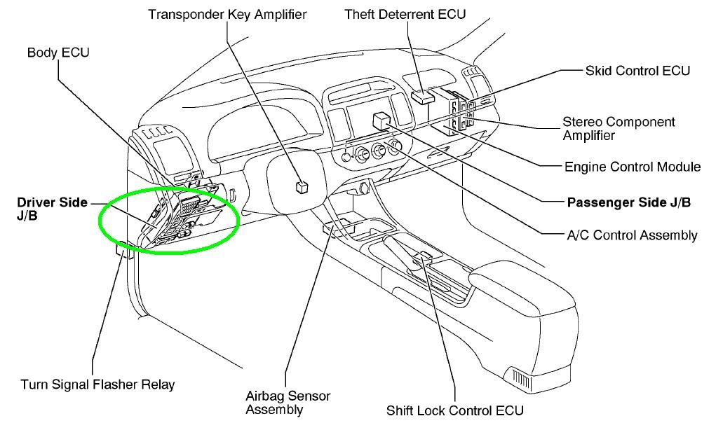 5l03j 1990 F350 Rear Light Wiring Showing Wire Colors Schematic together with Saturn Aura 2006 2007 Fuse Box Diagram also T17450467 Timer relay daytime running lights a2005 besides 98 Toyota Ta a Engine Diagram likewise Tail Light Wiring Diagram 2004 Toyota Camry. on 2001 toyota sequoia radio wiring diagram