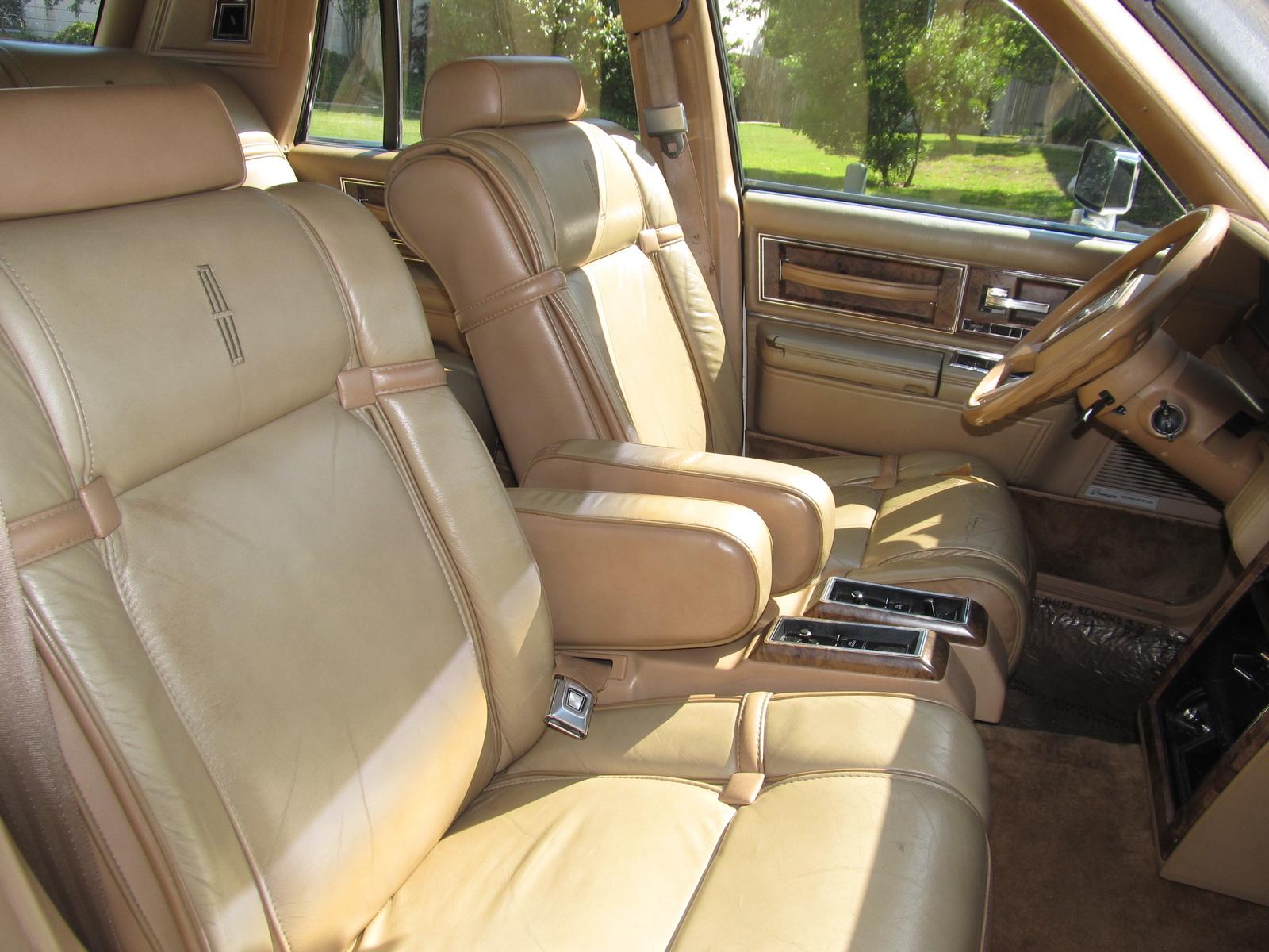 1983 Lincoln Continental Interior Pictures Cargurus