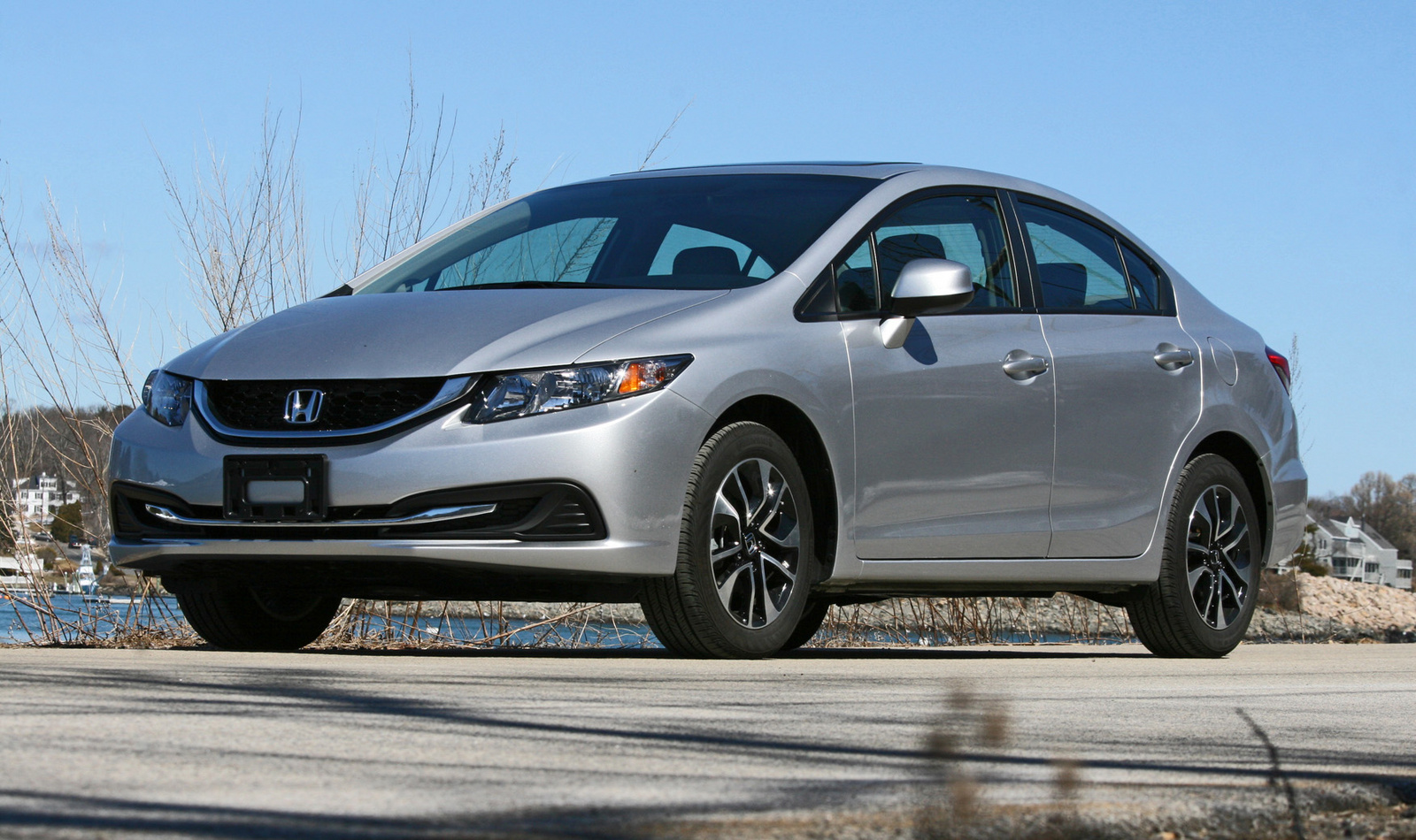 2013 Honda Civic, Front-quarter view, exterior, lead_in