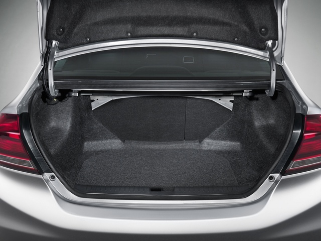 2013 Honda Civic, The Civic's trunk, interior, manufacturer