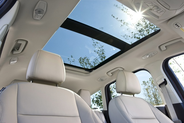 2013 Ford Escape, A Ford image of the Escape's Panoramic moonroof, interior, manufacturer, gallery_worthy