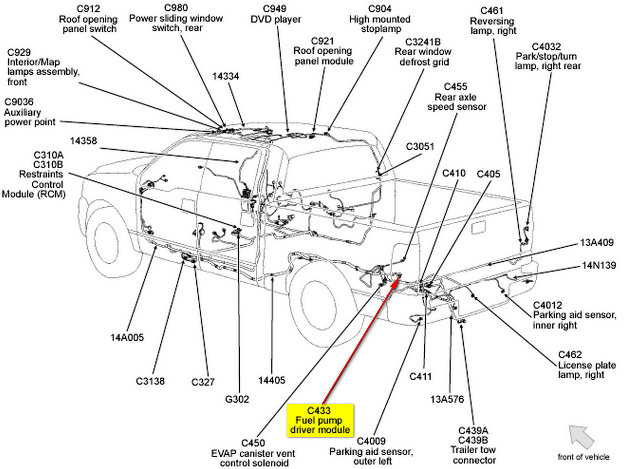 98 f150 gas tank diagram