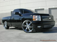 2012 Chevrolet Silverado 1500 LT Crew Cab 4WD, my 2012 Silverado lowered on 24 inch rims, exterior