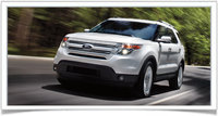 2014 Ford Explorer, Front-quarter view, exterior, manufacturer