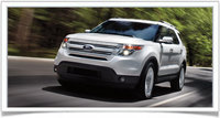 2014 Ford Explorer, Front-quarter view, manufacturer, exterior