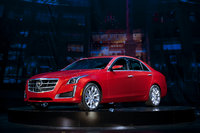 2014 Cadillac CTS, Front-quarter view. Copyright General Motors, manufacturer, exterior