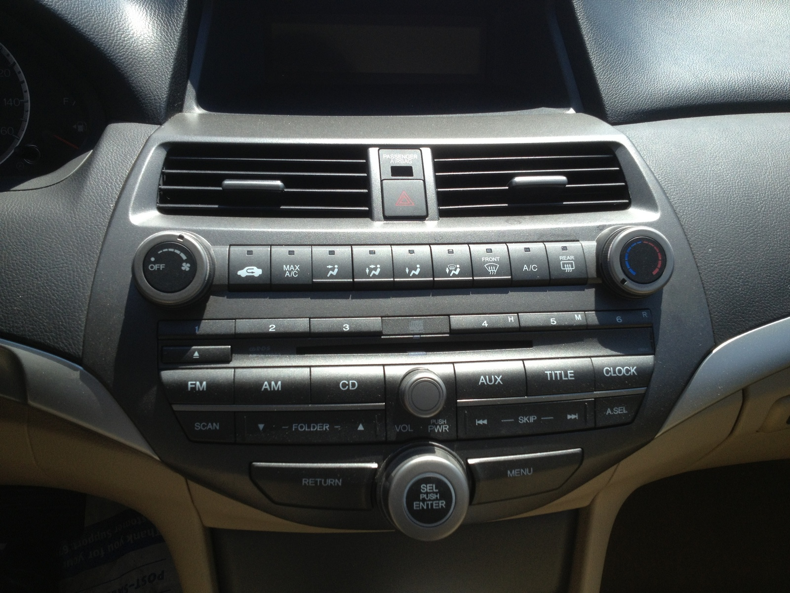 2012 Honda Accord LX picture, interior