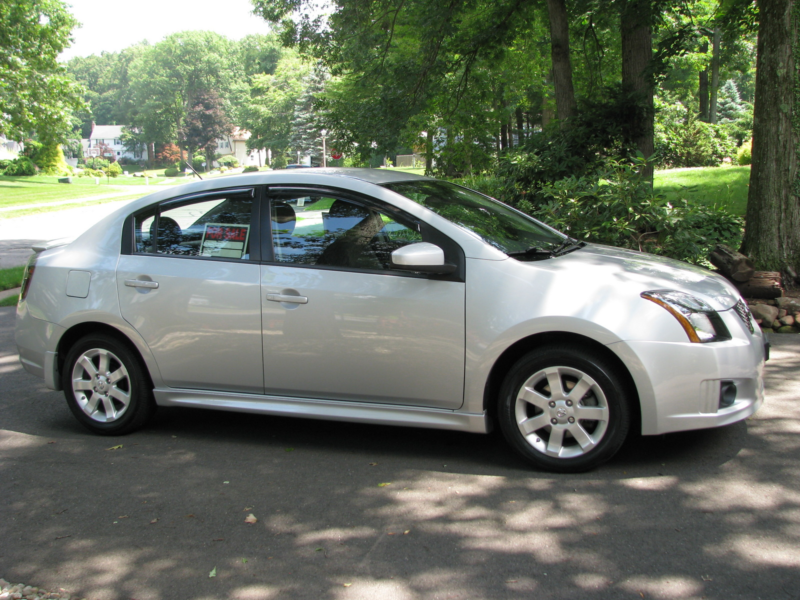 2012 Nissan Sentra 2 0 Sr Special Edition Aspen White Beige Photo 5 ...