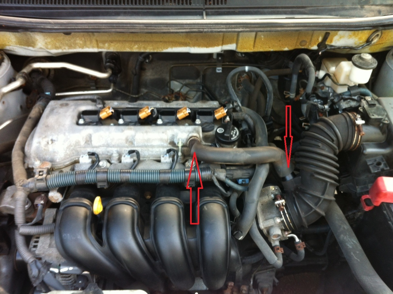 2010 Toyota Matrix Engine Diagram Trusted Wiring Corolla Questions What Is This Tube On My 2006 Cargurus 2012 Camry