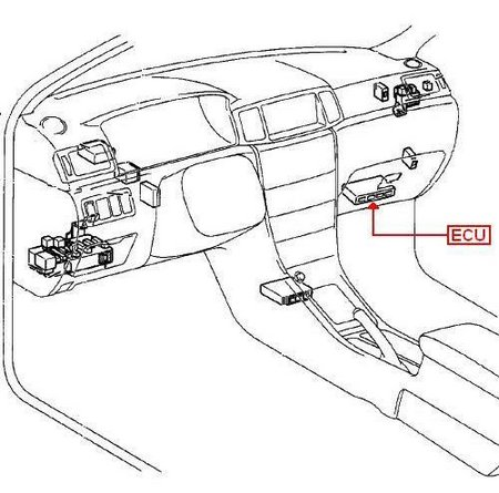 Honda Ridgeline Bank 2 Sensor Location likewise Acura Cl 3 2 Fuel Relay in addition 2006 Honda Civic Ac Wiring Diagram together with 667125 Location Relay Fuel Pump further Wiring Harness 2003 Nissan Altima. on 2013 honda accord airbag control module location
