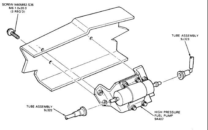 1986 Ford Ranger Fuel System Diagram