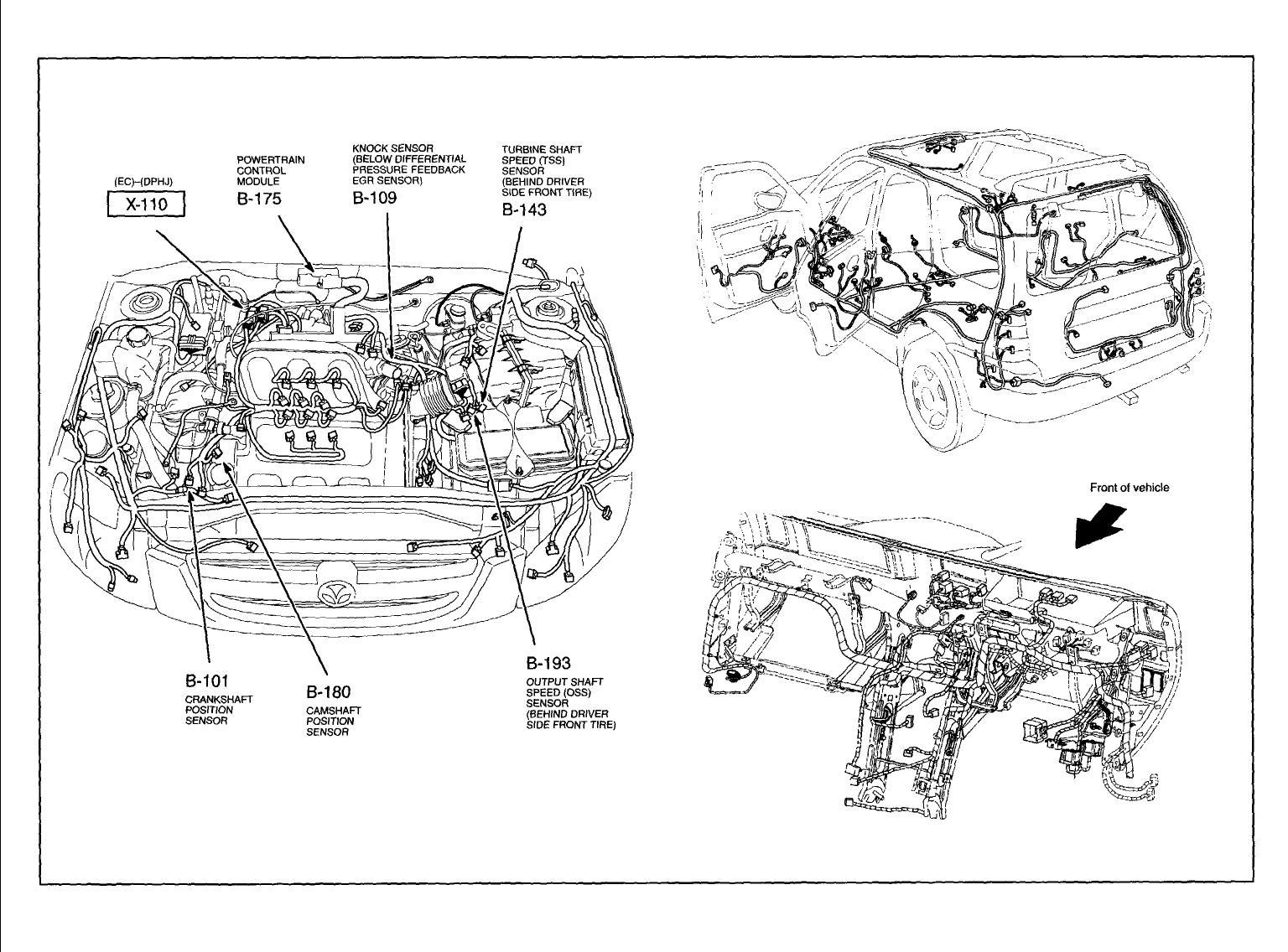 Mazda Mx-3 Questions - Whear Is The Crankshaft Sencer Locatiom On A Mazda 1 6 Engine