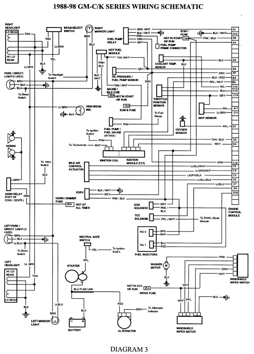 wiring diagram for 1988 gmc sierra free vehicle wiring diagrams u2022 rh generalinfo co