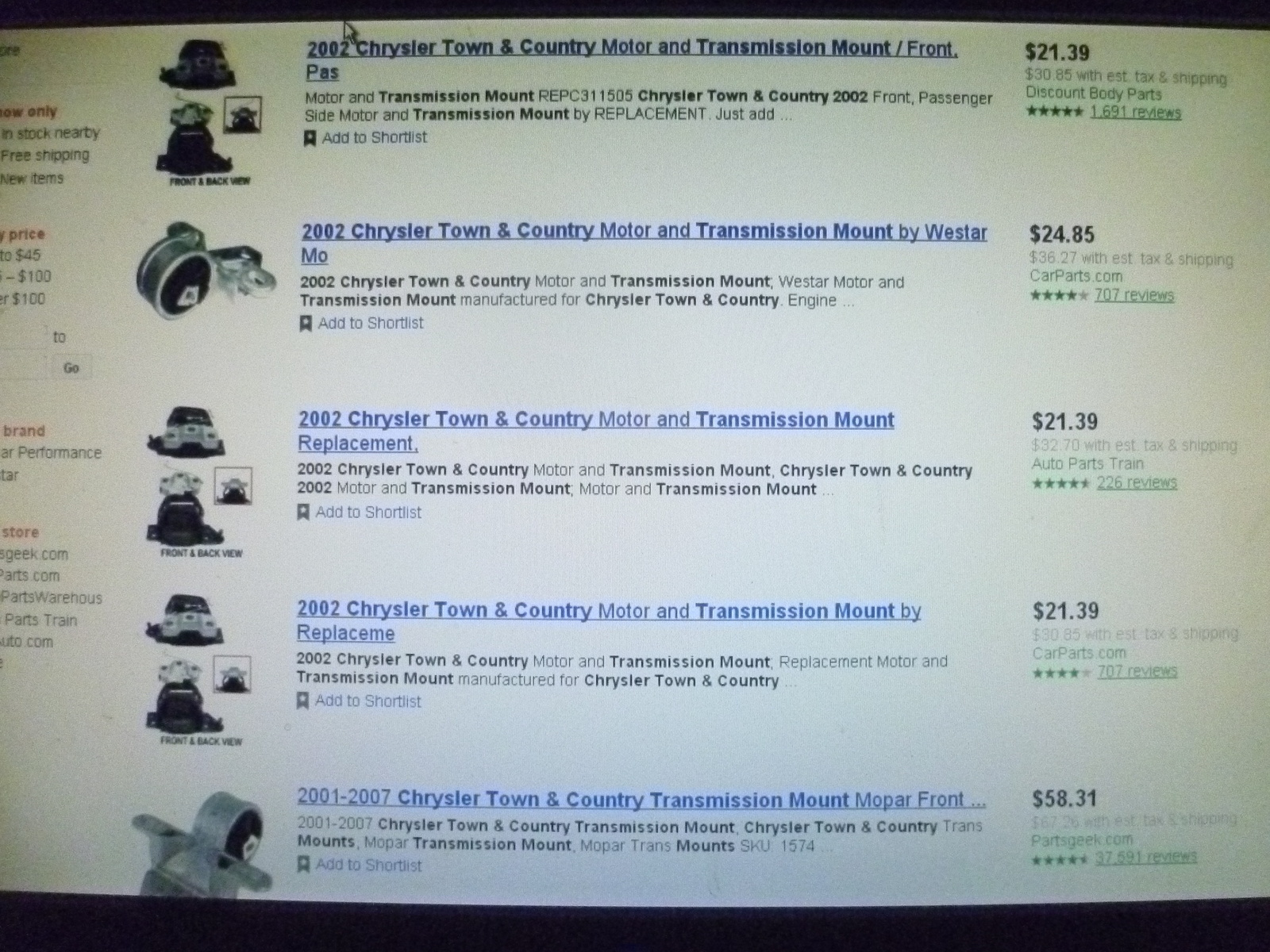 2012 chrysler town and country transmission problems