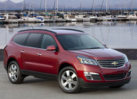 2014 Chevrolet Traverse, Front-quarter view. Copyright General Motors, manufacturer, exterior