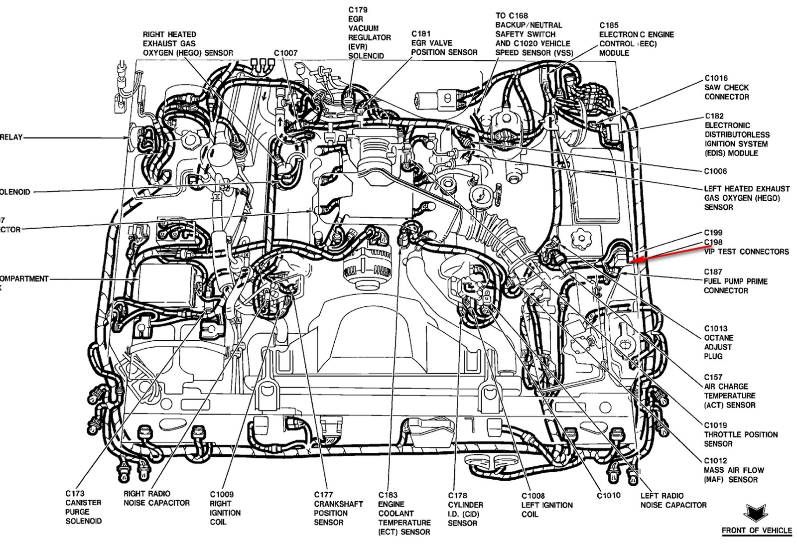 Mercury Grand Marquis Questions location of temperature sending – Lincoln 4.6 Liter Engine Diagram