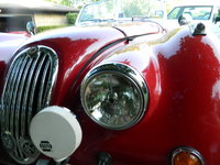 1954 Jaguar XK140, Lucas stile head lamps and Fog lights, 1953 XK120 ID plate., exterior
