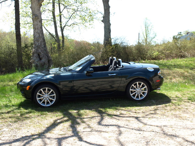2007 Mazda MX-5 Miata Touring, Highland Green 2007 Touring, exterior, gallery_worthy