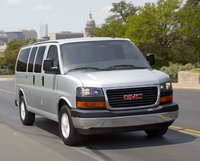 2014 GMC Savana, Front-quarter view. Copyright General Motors, manufacturer, exterior