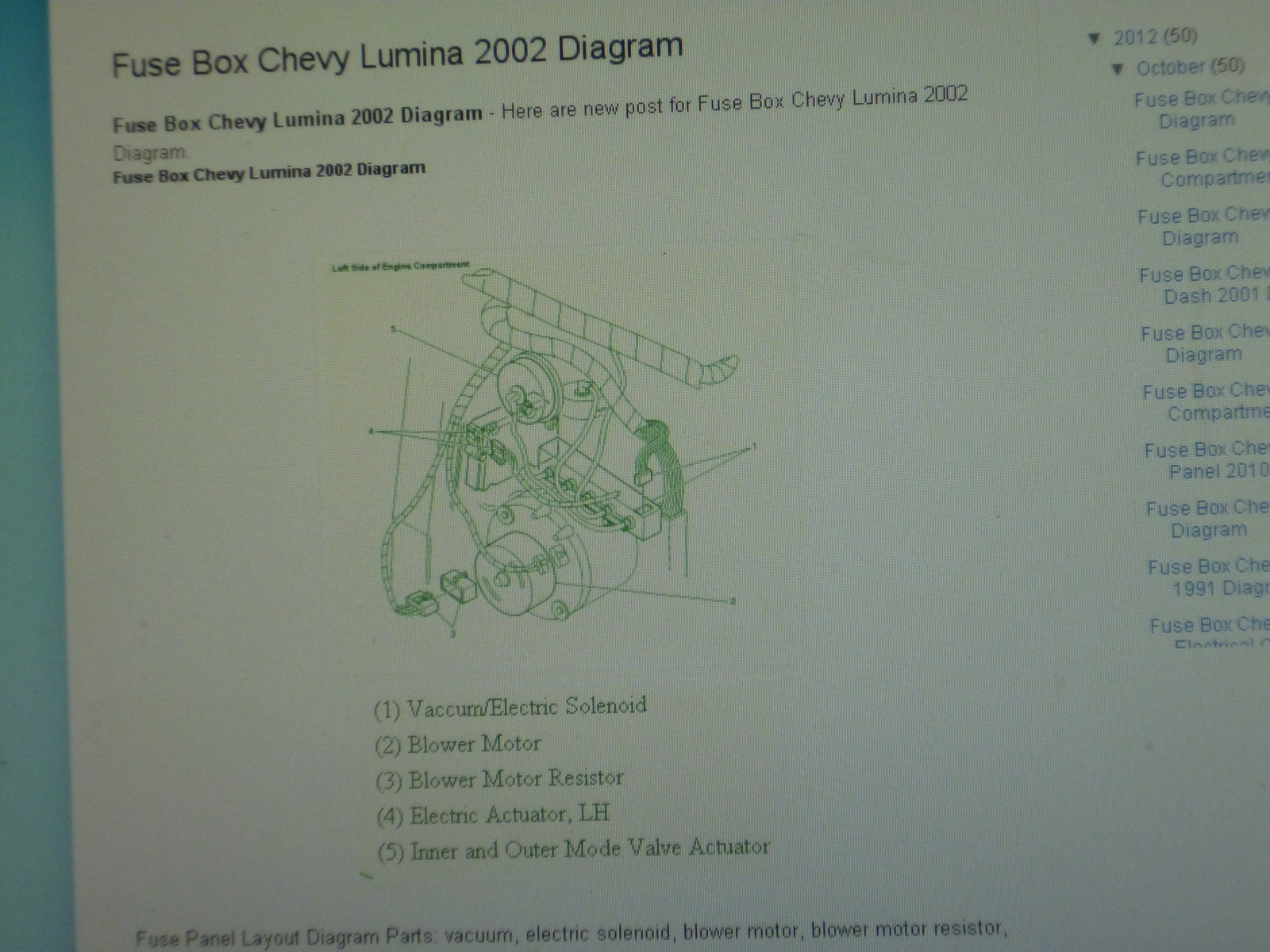 1999 chevrolet lumina fuse box chevrolet lumina questions on a 2000 chevy lumina  where is the  2000 chevy lumina