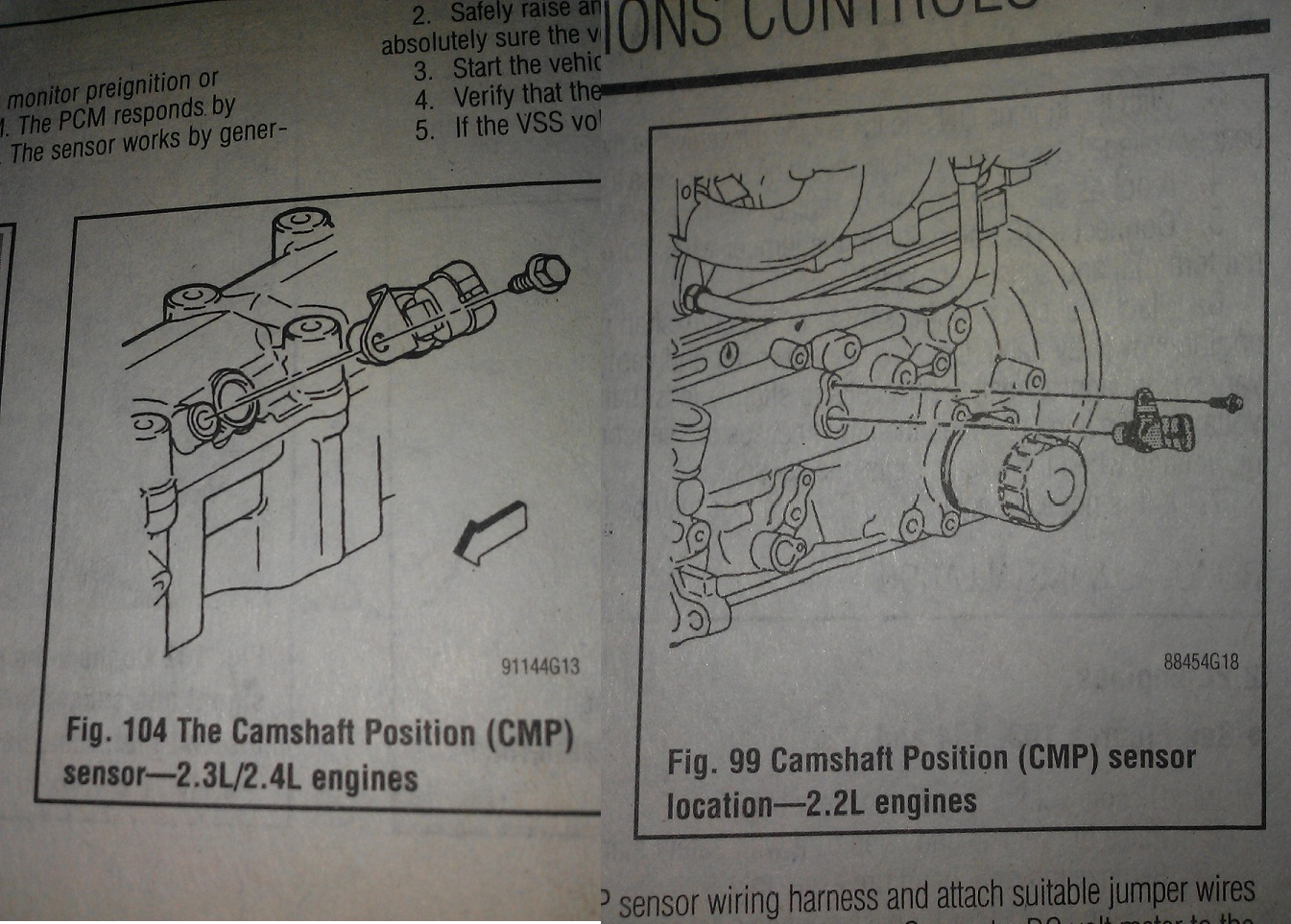 Where Is The Camshaft Positioning Sensor Located 2005 Pontiac Sunfire 4 2l Engine Diagram