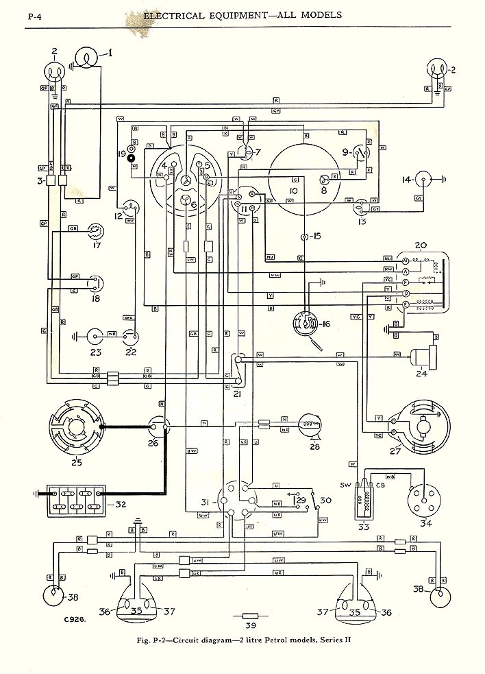 austin healey bj7 wiring diagram