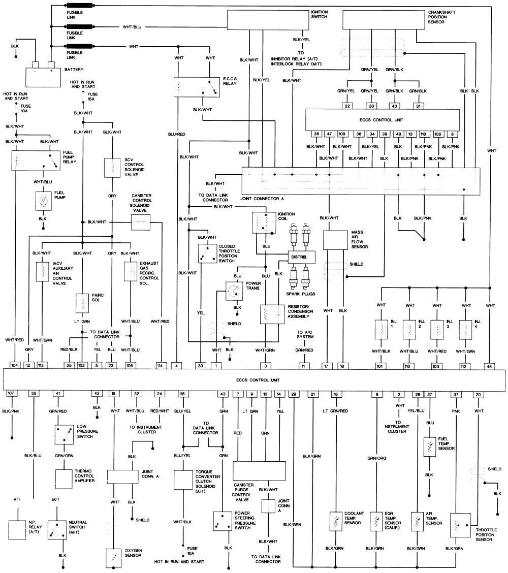 WRG-7511] 87 Nissan D21 Wiring Diagram on