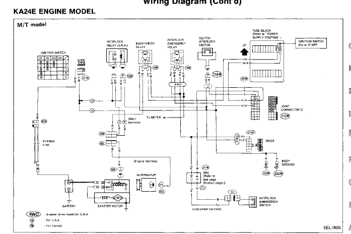 wiring diagram 96 nissan hardbody pick up