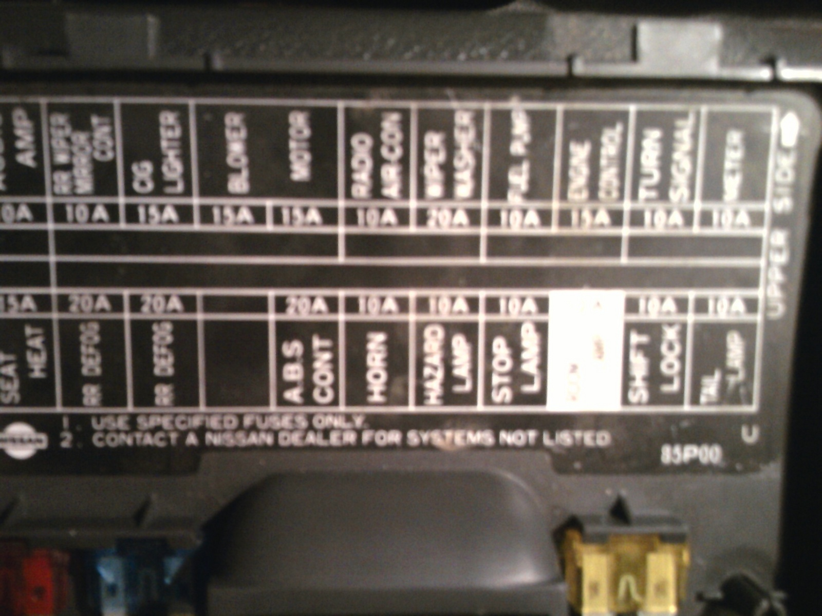 1997 Nissan Altima Fuse Box Diagram