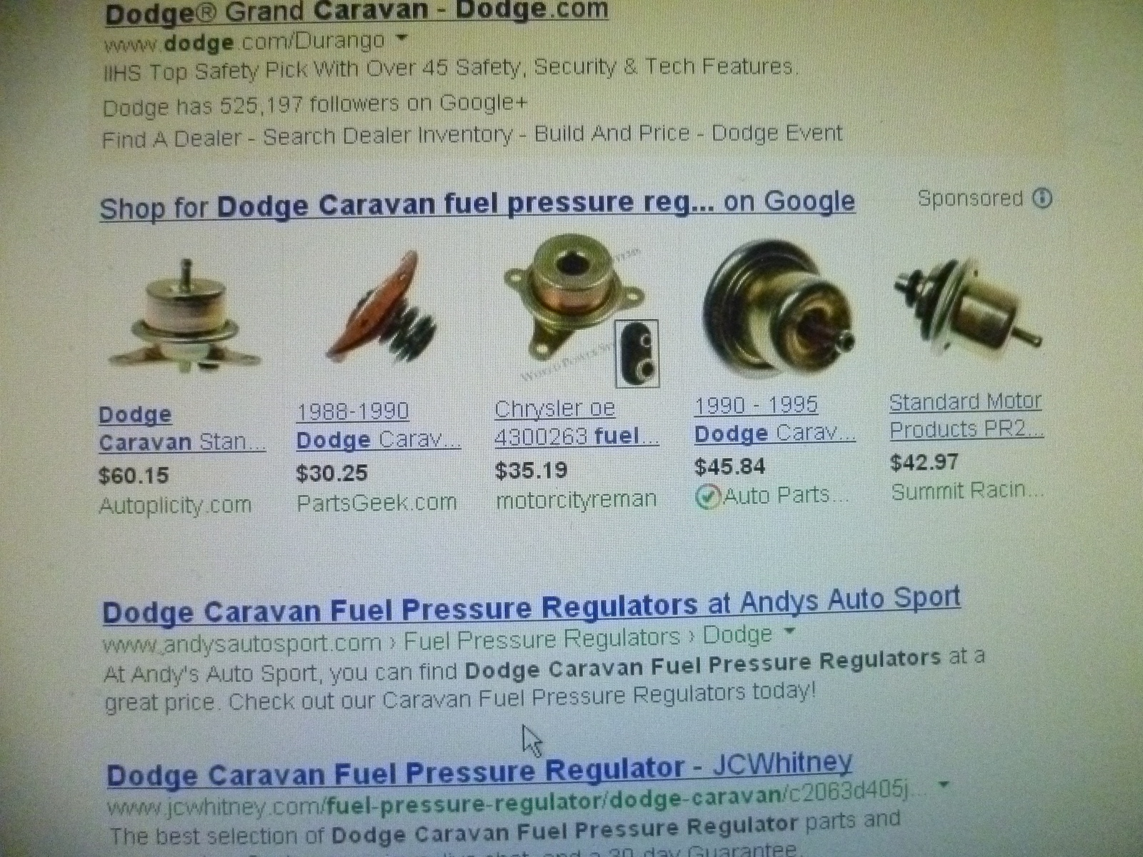 dodge caravan questions running rough, hesitates, stumbles, runs2002 Caravan Fuel Filter #19