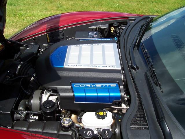 2010 Chevrolet Corvette ZR1 3ZR, 6.2 liter supercharged V8, 638hp, engine
