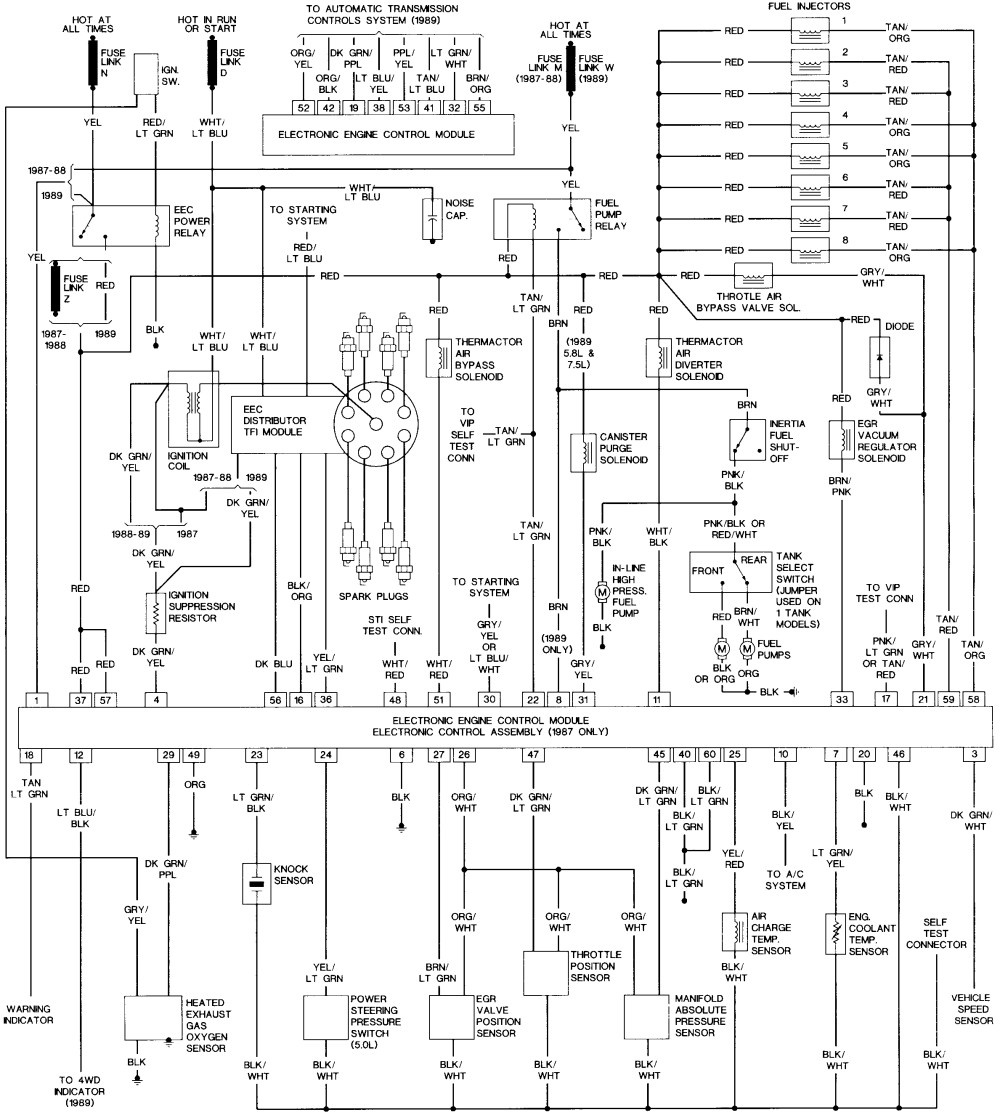96 Ford 5 0 Alternator Wiring Diagram 1993 Mustang Harness Schematic Library1993