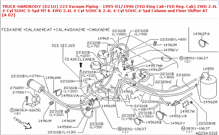 1991 Nissan D21 Truck 24 Engine Vacuum Diagram Solved - Wiring