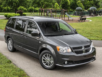2014 Dodge Grand Caravan, Front-quarter view from above, manufacturer, exterior