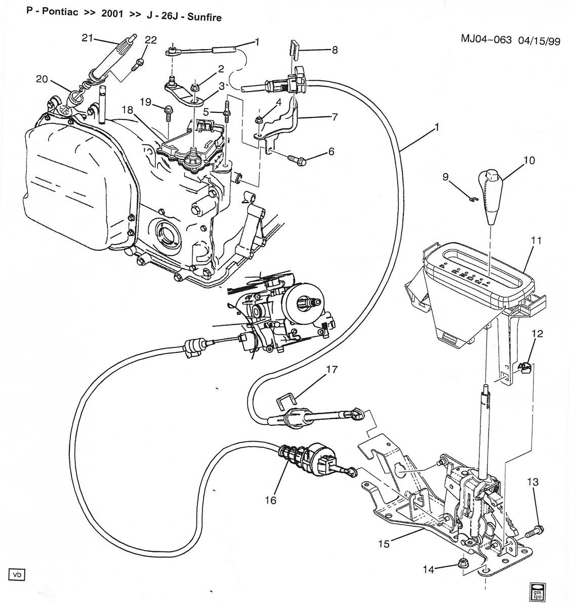 Chevrolet Cavalier Questions How To Repair My Shifter Linkage 96 Express Wiring Diagram Cargurus