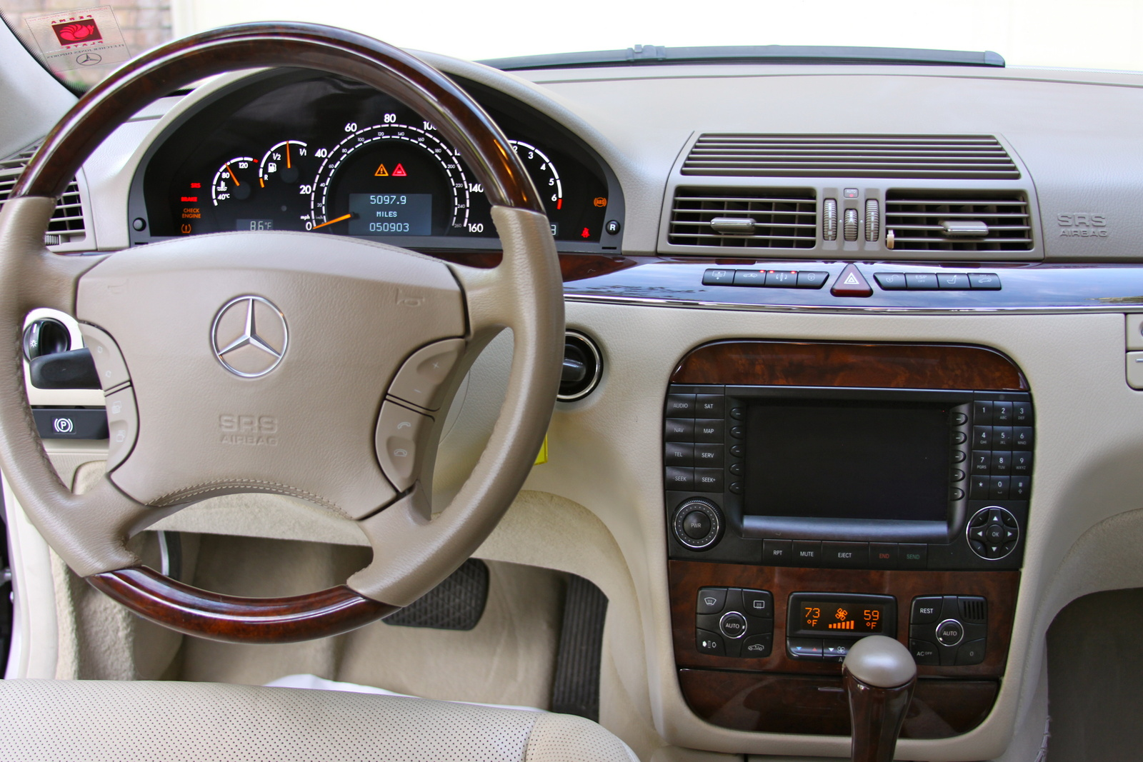 Picture of 2005 mercedes benz s class s500 4matic interior for 2005 s500 mercedes benz