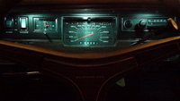 1971 Plymouth Fury III instrument panel view at night, interior