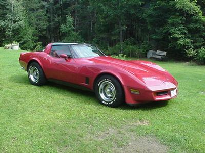 1981 Chevrolet Corvette Coupe, My Red on Red 1981 Vette, exterior