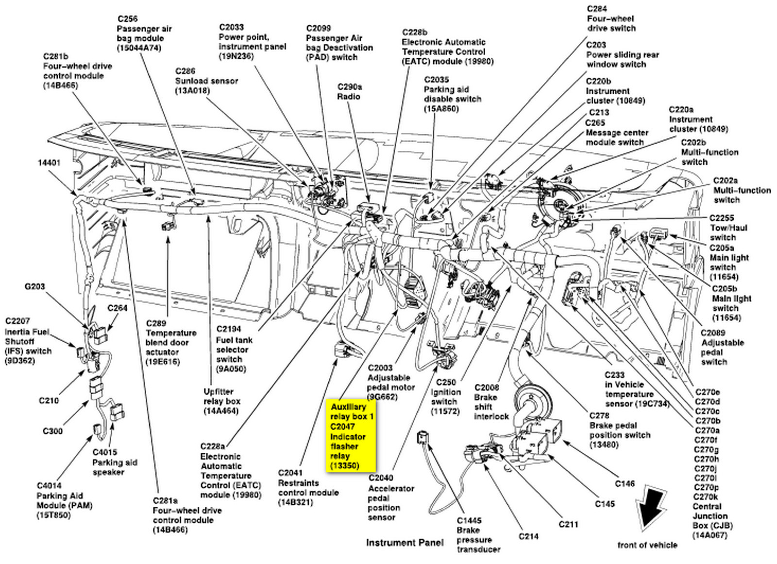 Post 93 F150 Brake Line Diagram 499891 as well 44s3u 1986 F350 Wiring The Starter Relay Includes Resistor Wire Melted additionally Discussion T60374 ds560387 likewise 2006 Chrysler Pt Cruiser Fuse Box Location additionally 1338085 Ford Truck Information And Then Some. on 2007 ford e250 wiring diagram