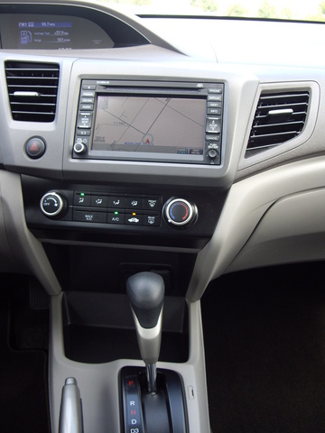 Picture of 2012 Honda Civic Natural Gas w/ Navigation, interior, gallery_worthy