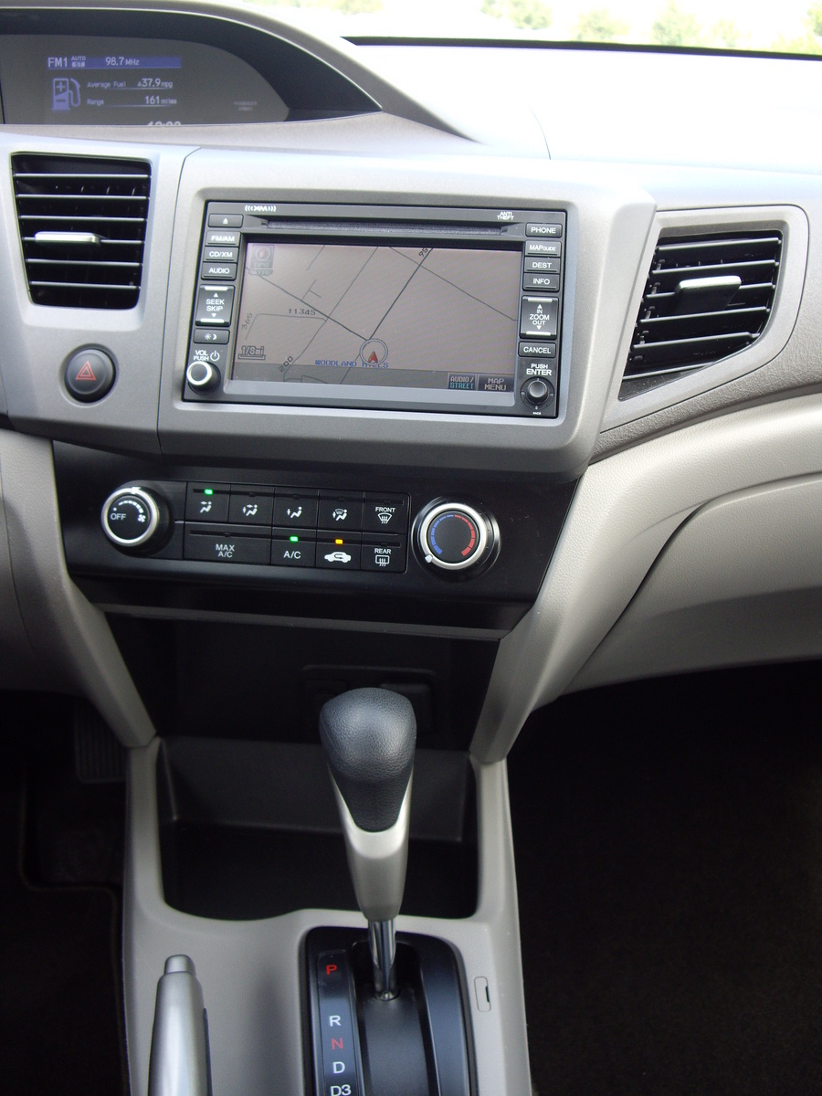 Picture of 2012 Honda Civic Natural Gas w/ Navigation, interior