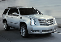 2014 Cadillac Escalade, Front-quarter view. Copyright General Motors, manufacturer, exterior