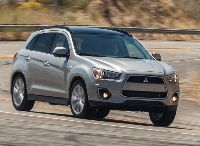 2014 Mitsubishi Outlander Sport, Front-quarter view, exterior, manufacturer, gallery_worthy