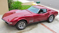 1969 Chevrolet Corvette Coupe picture.  Not bad for 12 year old paint.  2002 Pontiac Grand AM fire mist red silver anniversary paint., exterior