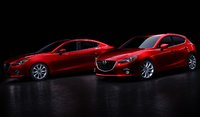 2014 Mazda MAZDA3, Front-quarter views of the sedan and hatchback, exterior, manufacturer, gallery_worthy