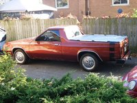 1984 Dodge Rampage after paint and a bumble bee strip, exterior