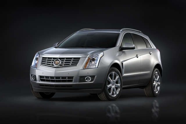 2014 Cadillac SRX, Front-quarter view. Copyright General Motors, exterior, manufacturer, gallery_worthy