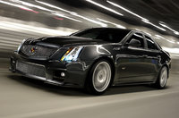 2014 Cadillac CTS-V, Front-quarter view. Copyright General Motors, manufacturer, exterior