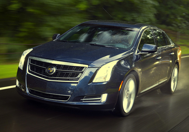 2014 Cadillac XTS, Front-quarter view. Copyright General Motors, exterior, manufacturer